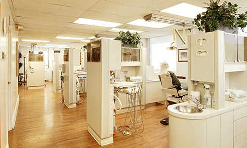 The beautiful and open dental areas at Dr. Martha Rich, DMD